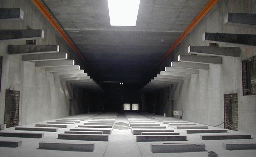 Bau Denitrifikation unterirdisch