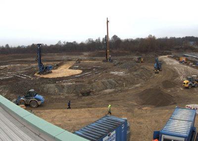 Bau des Sedimentationsbecken 1 Stand Dezember 2018