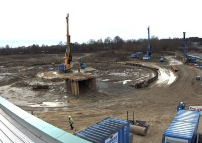 Bau des Sedimentationsbecken 1 Stand Januar 2019