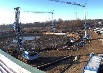 Bau des Sedimentationsbecken 1 Stand Februar 2019