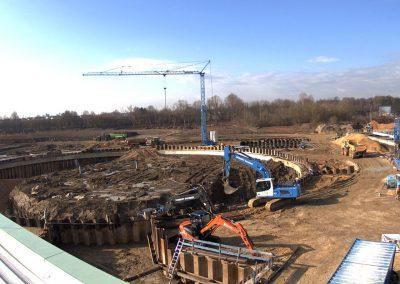 Bau des Sedimentationsbecken 1 Stand März 2019