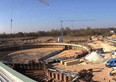 Bau des Sedimentationsbecken 1 Stand April 2019