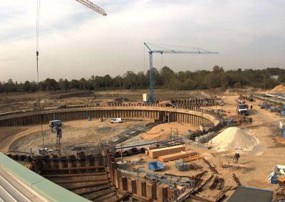 Bau des Sedimentationsbecken 1 Stand Mai 2019