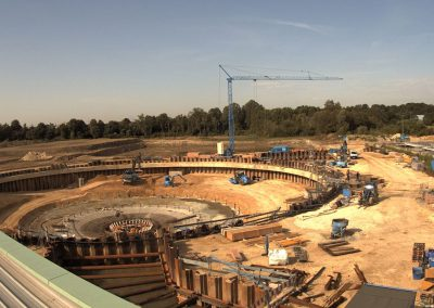 Bau des Sedimentationsbecken 1 Stand Juni 2019