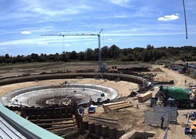 Bau des Sedimentationsbecken 1 Stand Juli 2019