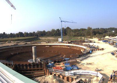 Bau des Sedimentationsbecken 1 Stand August 2019