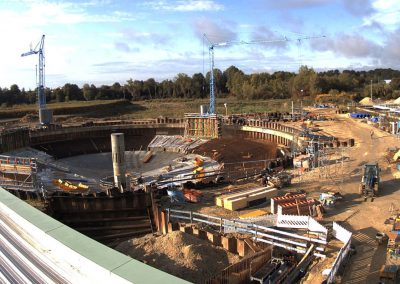 Bau des Sedimentationsbecken 1 Stand September 2019