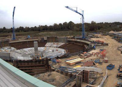 Bau des Sedimentationsbecken 1 Stand Oktober 2019