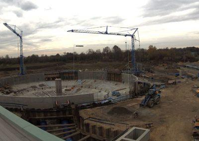 Bau des Sedimentationsbecken 1 Stand November 2019