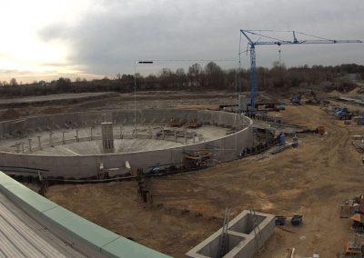 Bau des Sedimentationsbecken 1 Stand Dezember 2019
