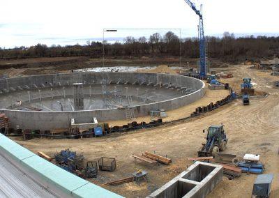 Bau des Sedimentationsbecken 1 Stand Februar 2020
