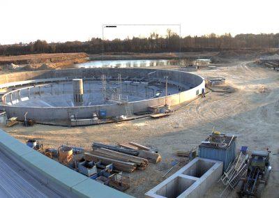 Bau des Sedimentationsbecken 1 Stand Mai 2020