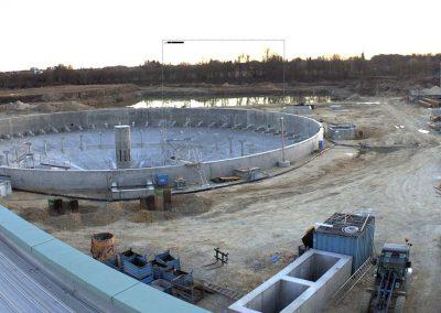 Bau des Sedimentationsbecken 1 Stand März 2020