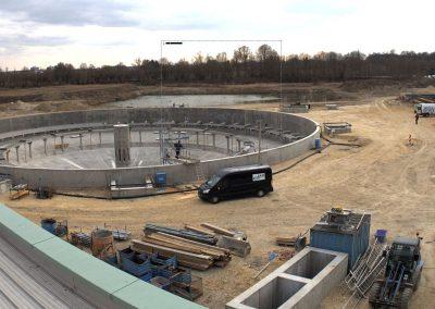 Bau des Sedimentationsbecken 1 Stand April 2020