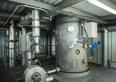 Measuring the flue gas emission